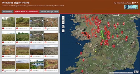 Map Of Ireland Heritage Sites.The Raised Bogs Of Ireland Story Map Launched Title